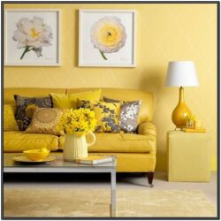 Gray And Yellow Living Room Decorating Ideas 2