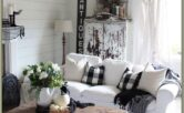 Gray Rustic Living Room Decor