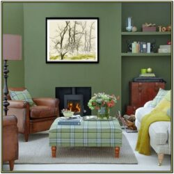 Green Living Room Ideas Decorating