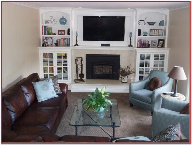 How To Decorate Long Living Room With Fireplace