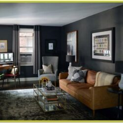 Living Room Charcoal Decorative Panels