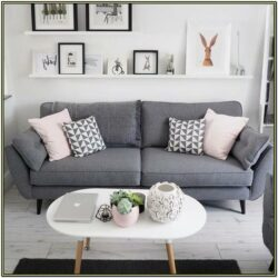 Living Room Charcoal Grey Couch Decorating