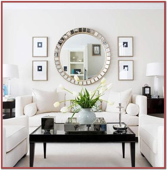 Living Room Circle Mirror Wall Decor