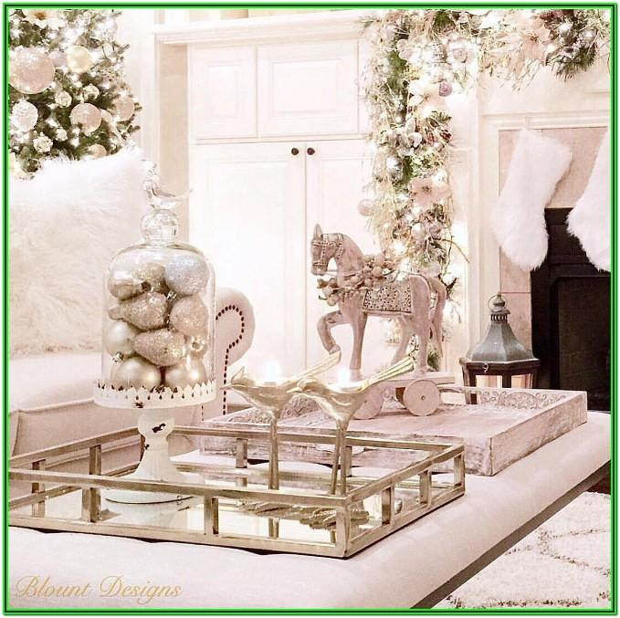 Living Room Coffee Table Christmas Decor