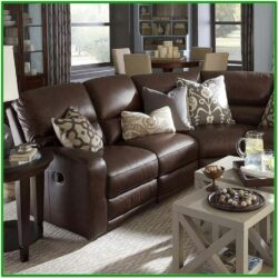 Living Room Decor Brown Leather Sofa