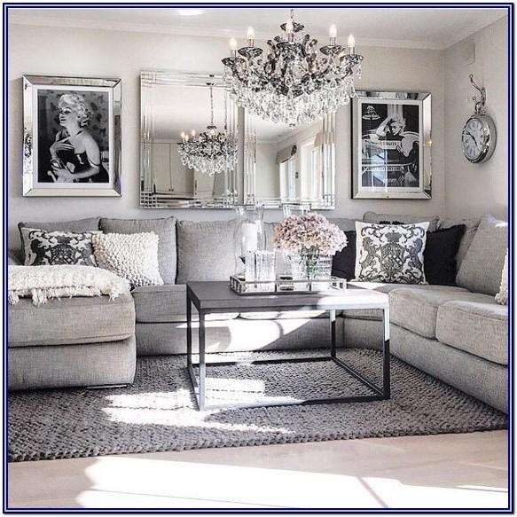 Living Room Decor With White Curtains