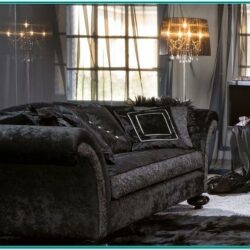 Living Room Decorate With Black