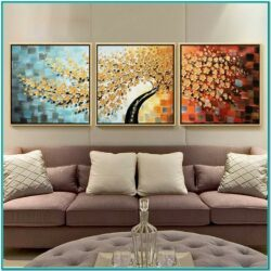 Living Room Decorated With Cross Stitch