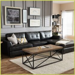 Living Room Decorating Ideas Black Leather Sofa 1