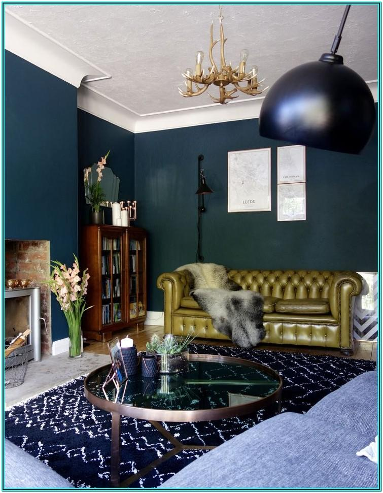 Living Room Decorating Ideas Dark Green Walls