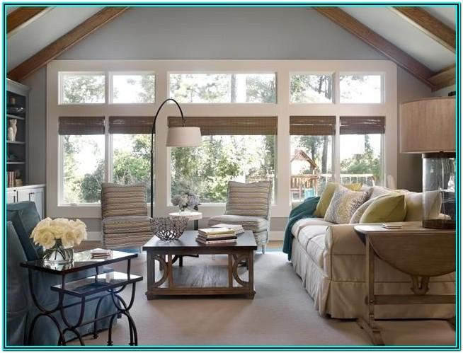 Living Room Decorating Ideas Large Window