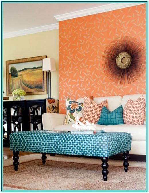 Living Room Decorating Ideas Orange Accents