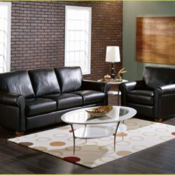 Living Room Decorating Ideas With Black Leather Furniture 1 Scaled