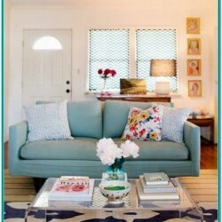 Living Room Decorating Ideas With Blue Couch