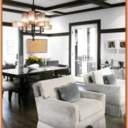 Living Room Decorating With Dark Wood Trim