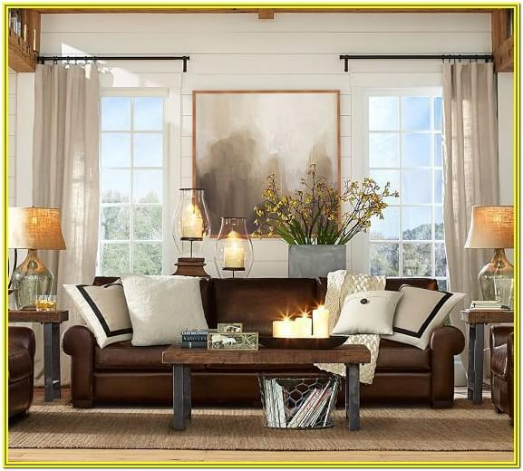 Living Room Decoration Ideals With Brown Sectional