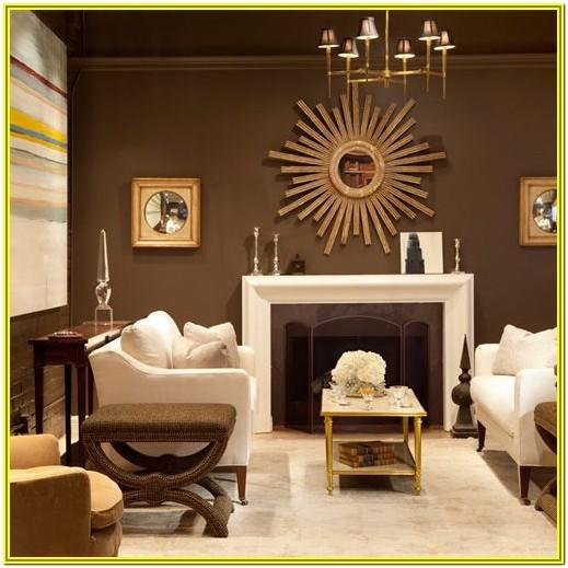 Living Room Decoration Ideas Brown Walls