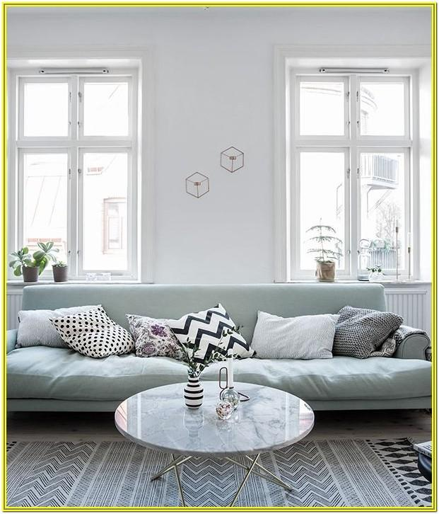 Living Room Decoration Ideas Light Green Couh