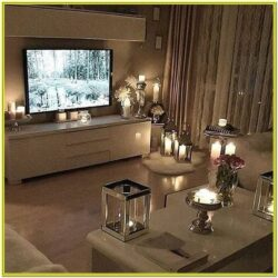 Living Room Decoration With Candles