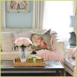 Living Room Decoration With Flowers