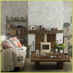 Living Room Decoration With Wallpaper