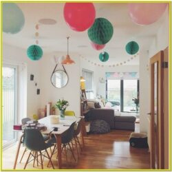 Living Room Decorations For Birthday With Streamers