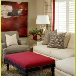 Living Room Decorations Using Blood Red