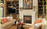 Living Room Decorations With Fireplace