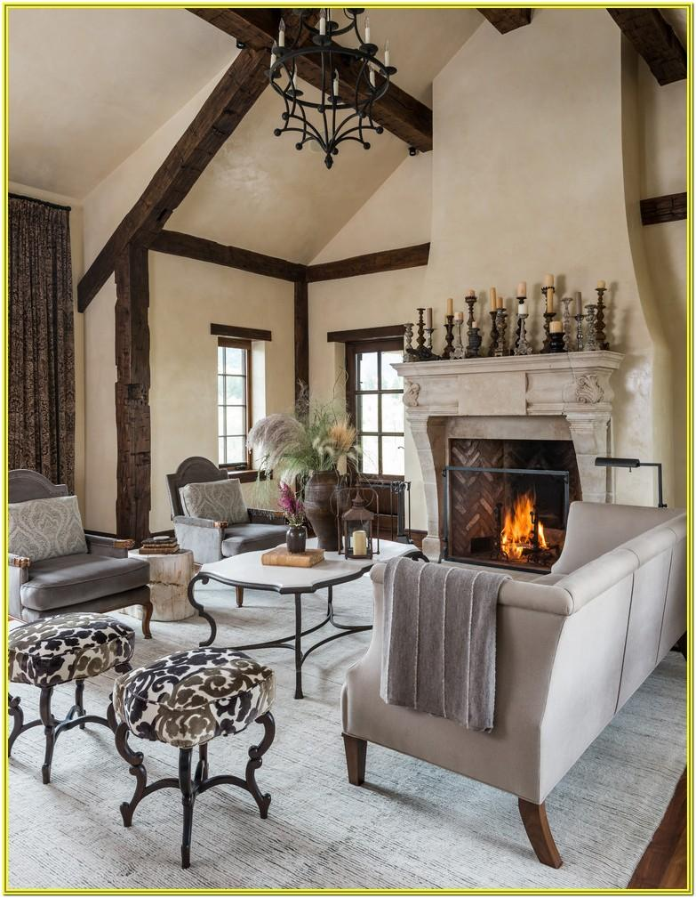 Living Room Decore Around Fireplace