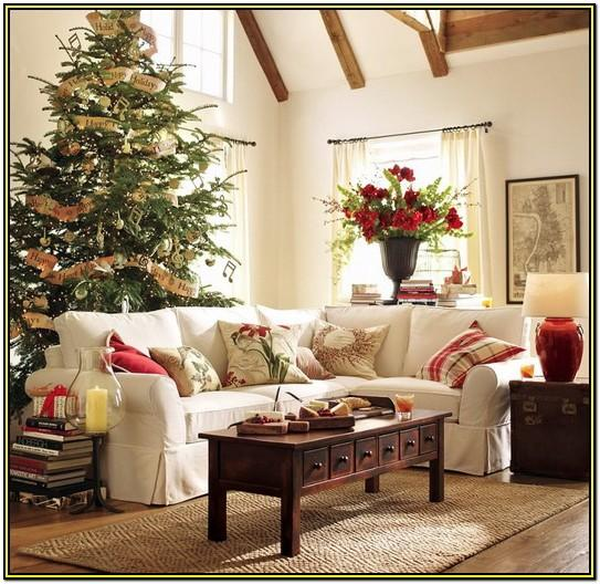 Living Room Elegant Christmas Tree Decorating Ideas