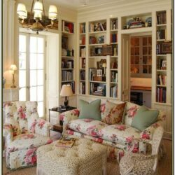 Living Room English Cottage Decor