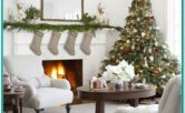 Living Room Farmhouse Christmas Decorating Ideas