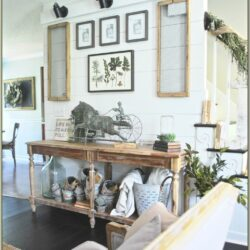 Living Room Farmhouse Decor With Sconces