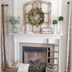 Living Room Farmhouse Mantel Decor 1