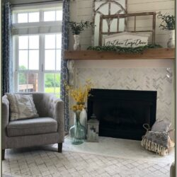 Living Room Farmhouse Mantel Decor