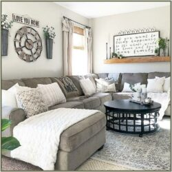 Living Room Farmhouse Style Decorating Ideas