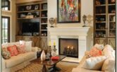 Living Room Fireplace Decor Images