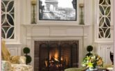 Living Room Fireplace Mantel Decor With Tv