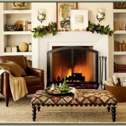Living Room Fireplace Mantel Decorations