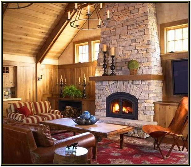 Living Room Fireplaces Decorating Ideas