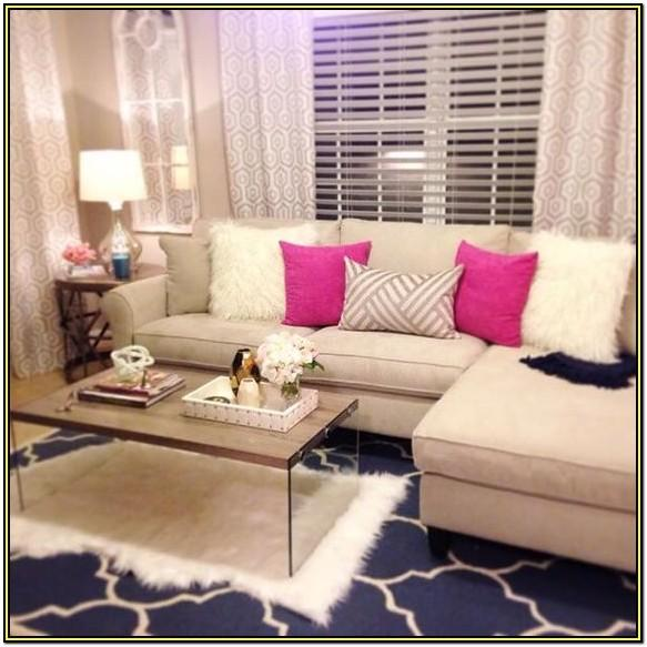 Living Room Girly Coffee Table Decor
