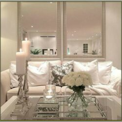Living Room Glass Table Set Decoration