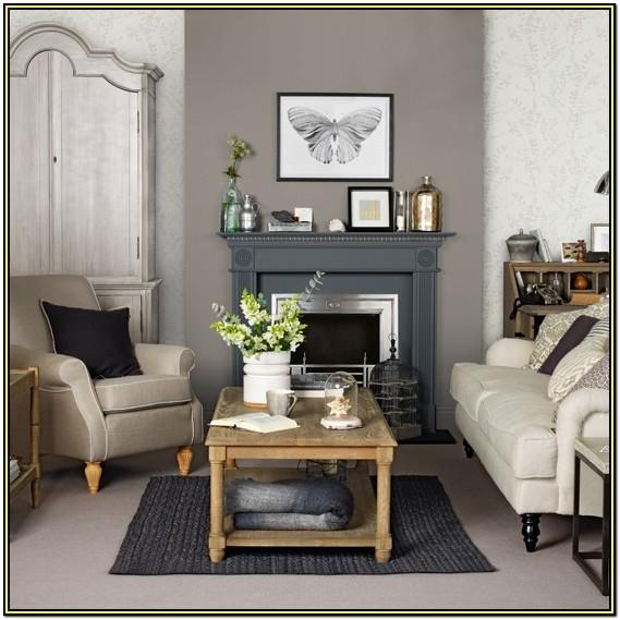 Living Room Grey And Brown