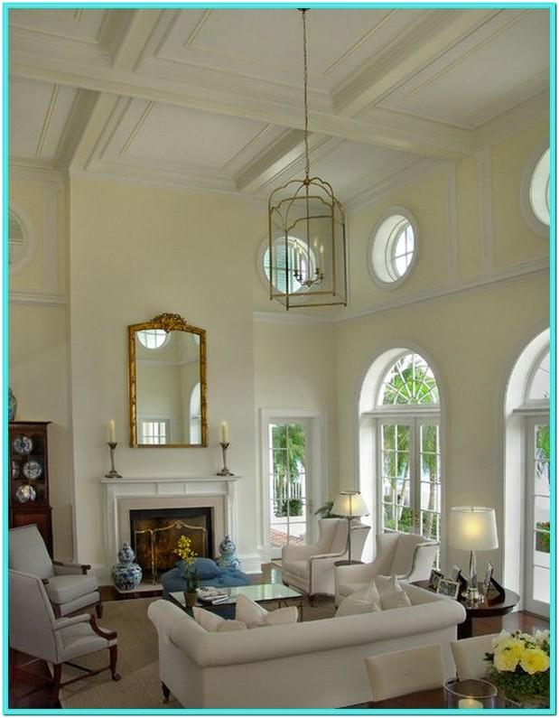 Living Room High Ceiling Wall Decor Ideas