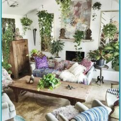 Living Room Home Decor Ideas With Plants 2