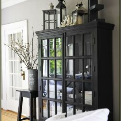 Living Room Hutch Decor