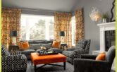 Living Room Ideas Grey And Orange