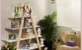 Living Room Ladder Shelf Decor Ideas