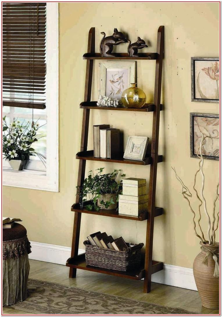 Living Room Ladder Shelf Decor