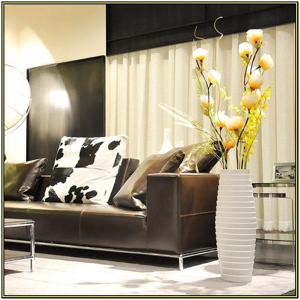 living room large floor vase decoration ideas